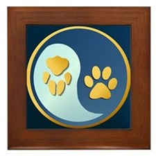 Pet Paw Yin Yang Framed Tile