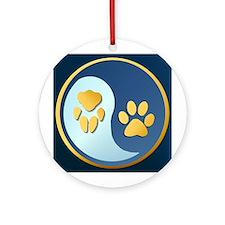 Pet Paw Yin Yang Ornament (Round)