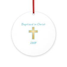 Baptism Boy Ornament (Round)