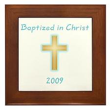 Baptism Boy Framed Tile