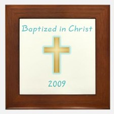 Baptism Boy Framed Tile