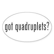 got quadruplets Oval Decal
