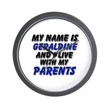 my name is geraldine and I live with my parents Wa