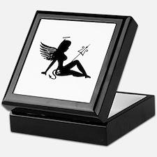 Angel Devil Silhouette Girl Keepsake Box