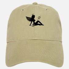 Angel Devil Silhouette Girl Baseball Baseball Cap