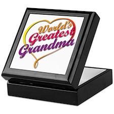 Cute Worlds greatest grandmother Keepsake Box