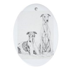 Greyhounds Oval Ornament