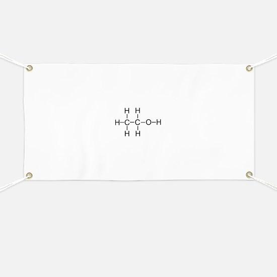 Alcohol - Chemical Formula Banner
