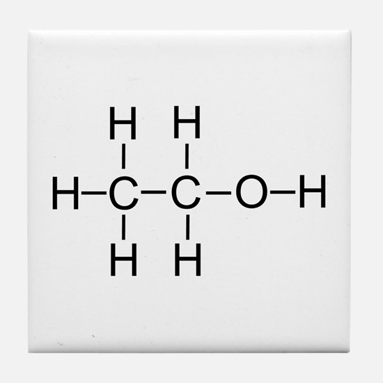 Alcohol - Chemical Formula Tile Coaster
