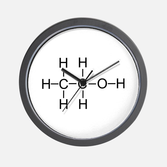 Alcohol - Chemical Formula Wall Clock