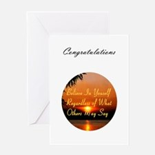 Believe in Yourself sayings Greeting Card