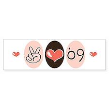 Peace Love 09 Graduation Bumper Bumper Sticker