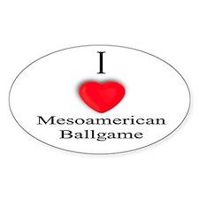 Mesoamerican Ballgame Oval Decal