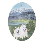 Samoyed Oval Ornament