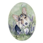Welsh Corgi Oval Ornament