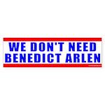 Benedict Arlen Specter Bumper Sticker