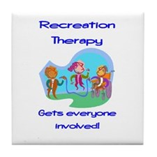 Recreation Therapy Tile Coaster