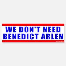 Benedict Arlen Specter Bumper Bumper Bumper Sticker