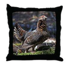 Female Spruce Grouse Throw Pillow