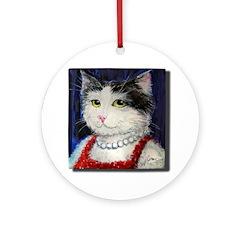Noppa, the Girlfriend from Finland. Ornament (Roun