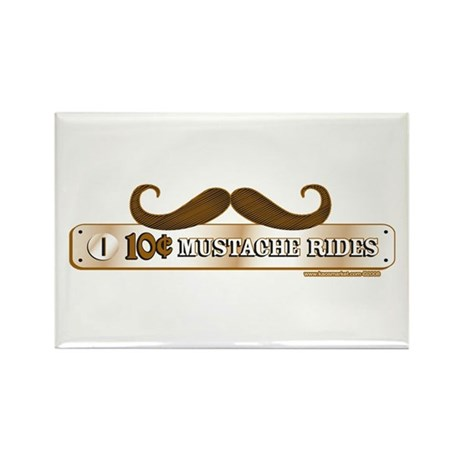 10 Cent Mustache Rides Rectangle Magnet (10 pack)
