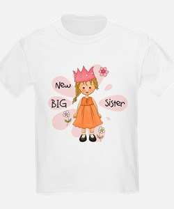Blond Princess Big Sister T-Shirt