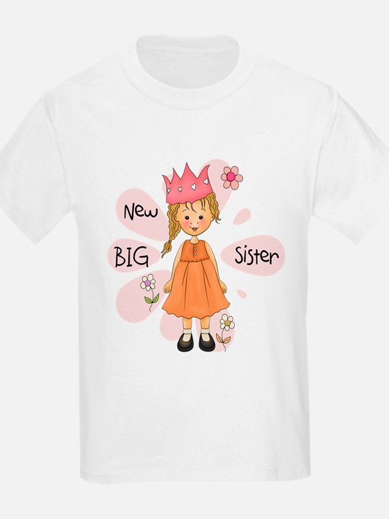 Blond Princess Big Sister T-Shirt