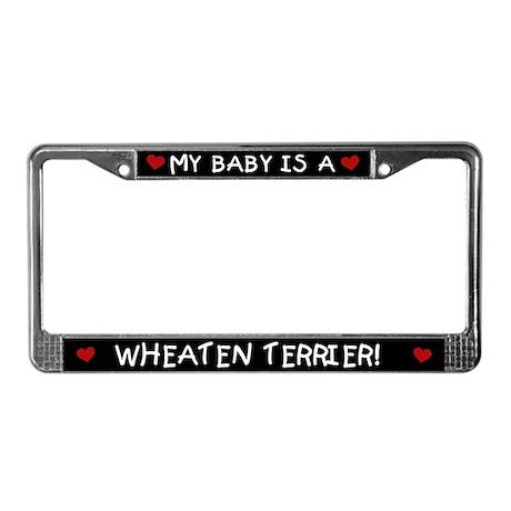Wheaten Terrier License Plate Frame