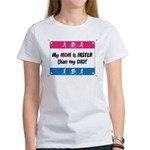 My Mom/Dad is Faster 2x Women's T-Shirt