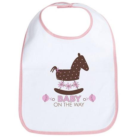 Baby Girl Rocking Horse Bib