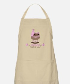 Twin Girls On Way BBQ Apron