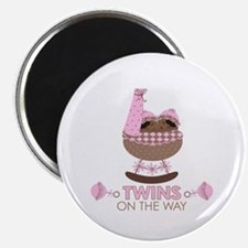 "Twin Girls On Way 2.25"" Magnet (10 pack)"