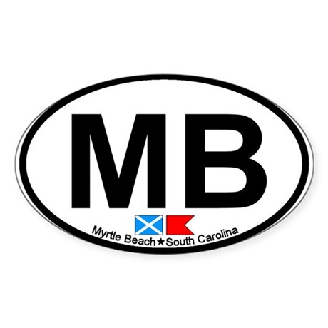Myrtle Beach SC Oval Sticker