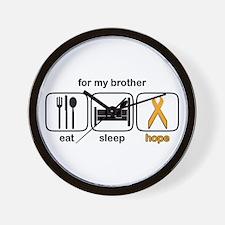 Brother ESHope Leukemia Wall Clock