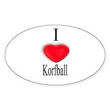 Korfball Oval Decal
