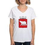 Hammerfest Coat Of Arms Women's V-Neck T-Shirt