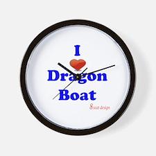 I love dragon boat Wall Clock