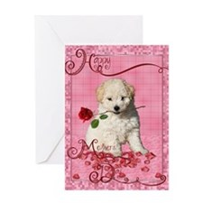 Bichon Frise Mothers Day Greeting Card