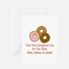 Doughnuts For Baby Greeting Card