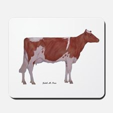 red and white holstein Mousepad