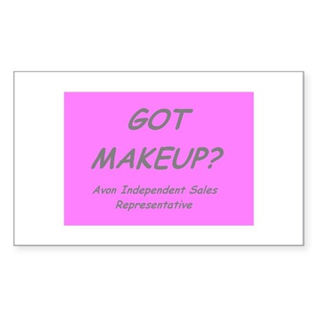 Got MakeUp? Rectangle Sticker