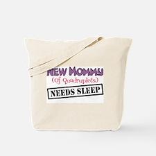 New Mommy Of Quadruplets Tote Bag