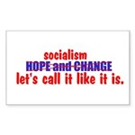 Socialism. Let's Call It Like Rectangle Sticker 1