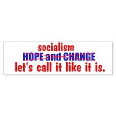 Socialism. Let's Call It Like Bumper Sticker