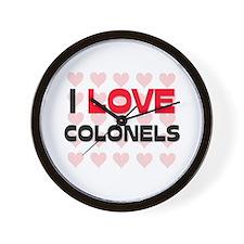 I LOVE COLONELS Wall Clock