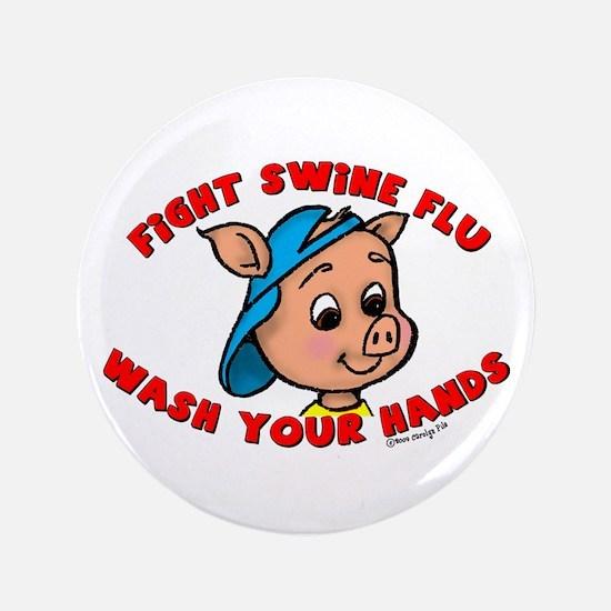 "Swine Flu 3.5"" Button"
