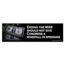 Windfall for Congress - Taxpayers Bumper Bumper Sticker