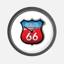 Route 66 Sign Wall Clock