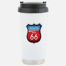 Route 66 Sign Stainless Steel Travel Mug