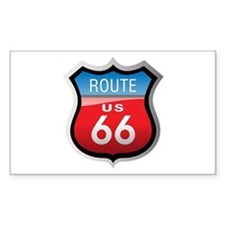 Route 66 Sign Rectangle Decal